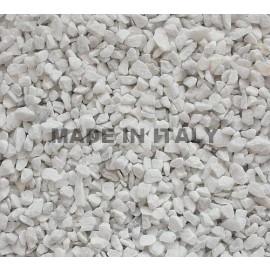 Bianco Carrara Chips mm. 6/9 in 25 Kg. Bags