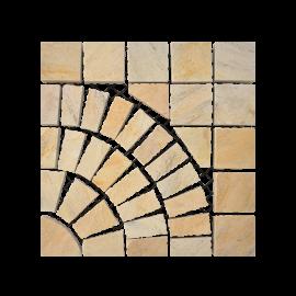 Pasinato EasyStone Square with Circle - Yellow Quartzite