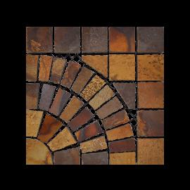 Pasinato EasyStone Square with Circle - Multicolor Basalt